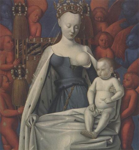 Agnès Sorel, La vierge à l'enfant de Jean Fouquet