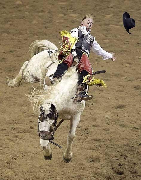 Las Vegas, Wes Stevenson et son cheval à dompter
