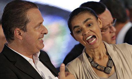 Le defunt Eduardo Campos en compagnie de Marina Silva