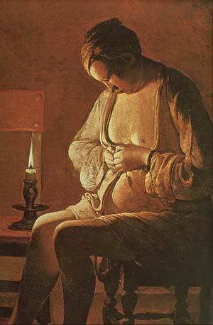 Georges de la Tour, La Femme à la puce