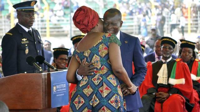 Le couple présidentiel à l'investiture de Patrice Talon