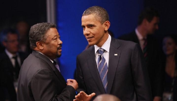 Jean Ping et Barack Obama