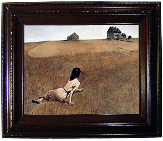 "Le réaliste Andrew Wyeth dans ""Christina's World"""