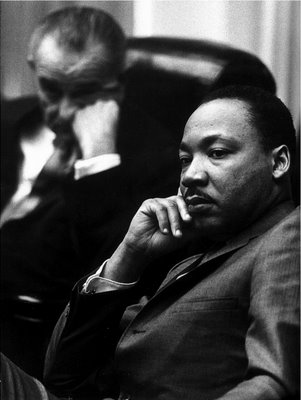 LBJ and MLK