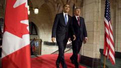 Curieusement, c'est Barack Obama qui avait demandé de ressortir pour saluer la foule avant de retourner au Parlement.