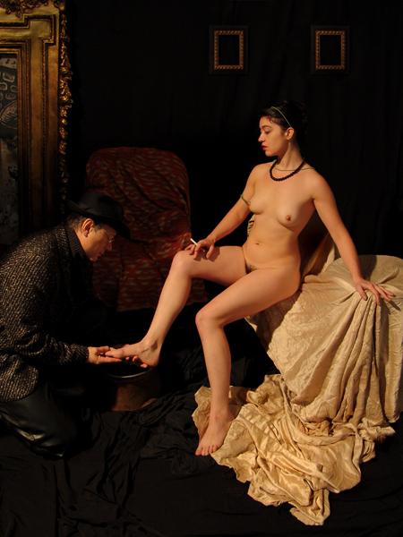 La Bethsabée de Rembrandt, reprise par Anton Solomoukha