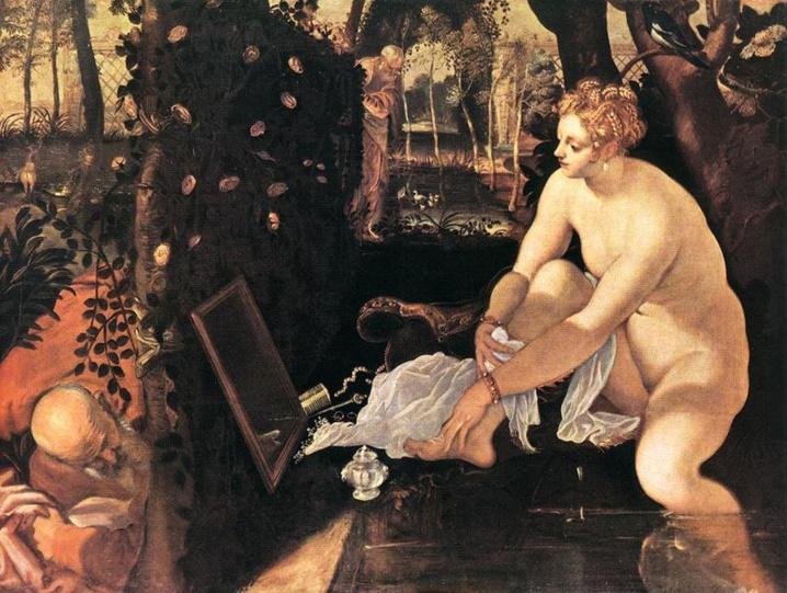 Suzanne et les Vieillards, Tintoret 1555