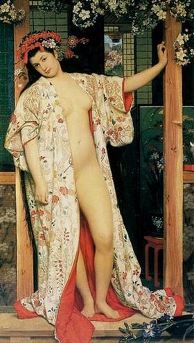 James Tissot, La Japonaise au bain (1864)
