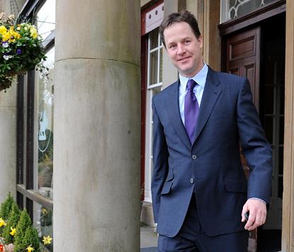 Nick Clegg en Johnny Clegg
