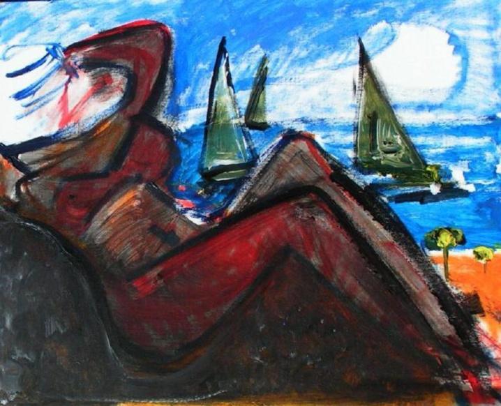Theo Geschwind, Sur la plage