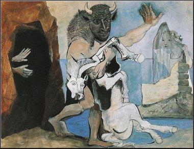 Pablo Picasso, Le minotaure et la jument, 1936