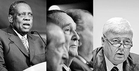 Les trois derniers d'une longue liste: Issa Hayatou, Nicolas Léoz et Ricardo Teixeira dans l'œil du cyclone.