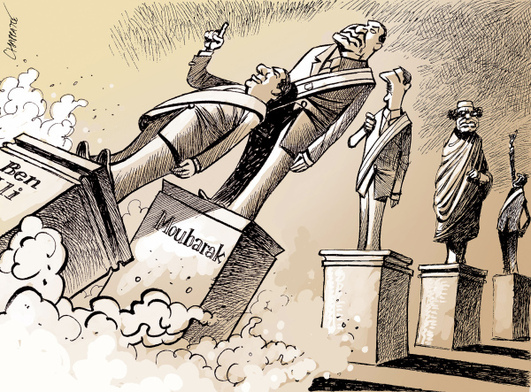 Chappatte, Attention chute dictateurs