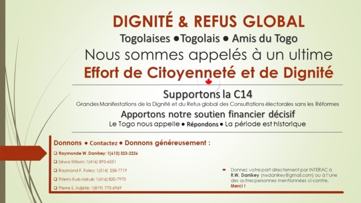 Togo... Supportons la C14