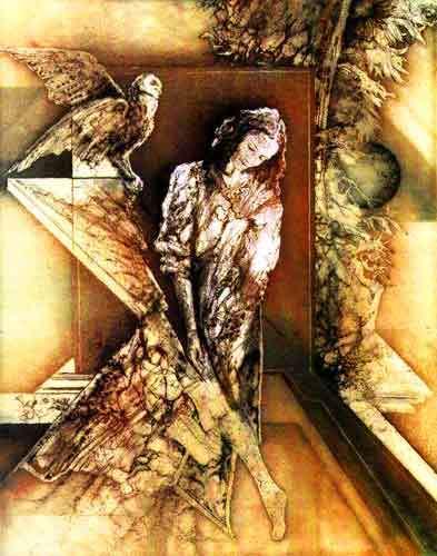 Carmélo de la Pinta, Femme à la chouette