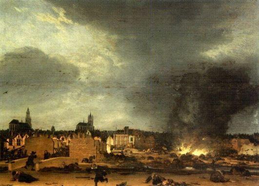 Egbert van der Poel , L'Explosion de la poudrière de Delft (1654)