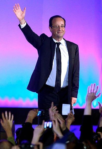 François Hollande à sa première apparition publique comme Président élu