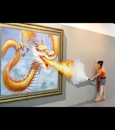 Dragon cracheur de feu... à éteindre