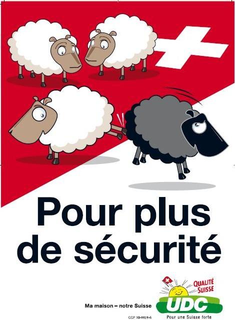 Dehors le mouton noir, selon SVP - UDC.