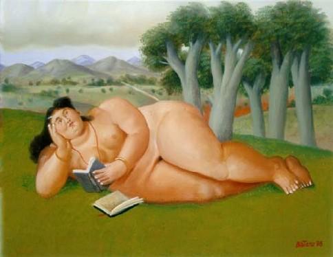 Fernando Botero, Mujer leyendo