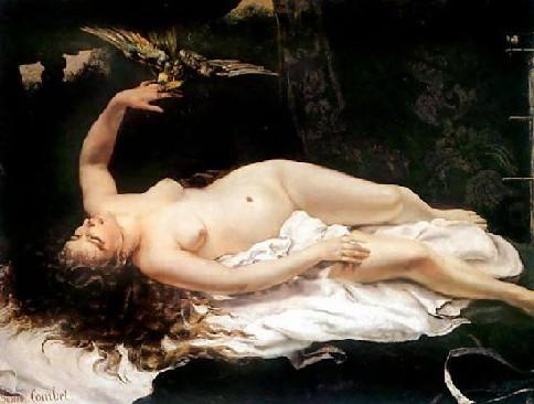 G. Courbet, Femme au perroquet