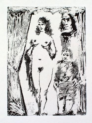 Picasso, Couple et valet