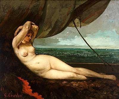 Courbet, Nue sur la plage