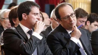 Manuel Valls... celui dont les décisions sèment la grogne aux côtés du président Hollande