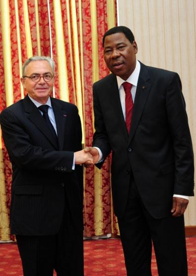 Jean-Paul Monchau et Boni Yayi