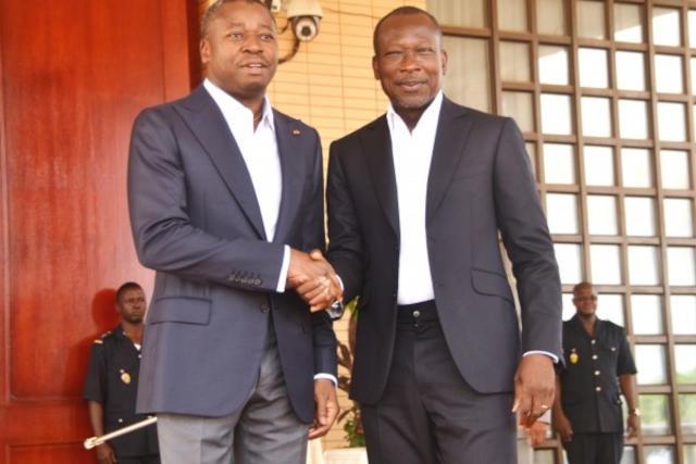 Rare moment de rencontre entre Faure Gnassingbé et Patrice Talon