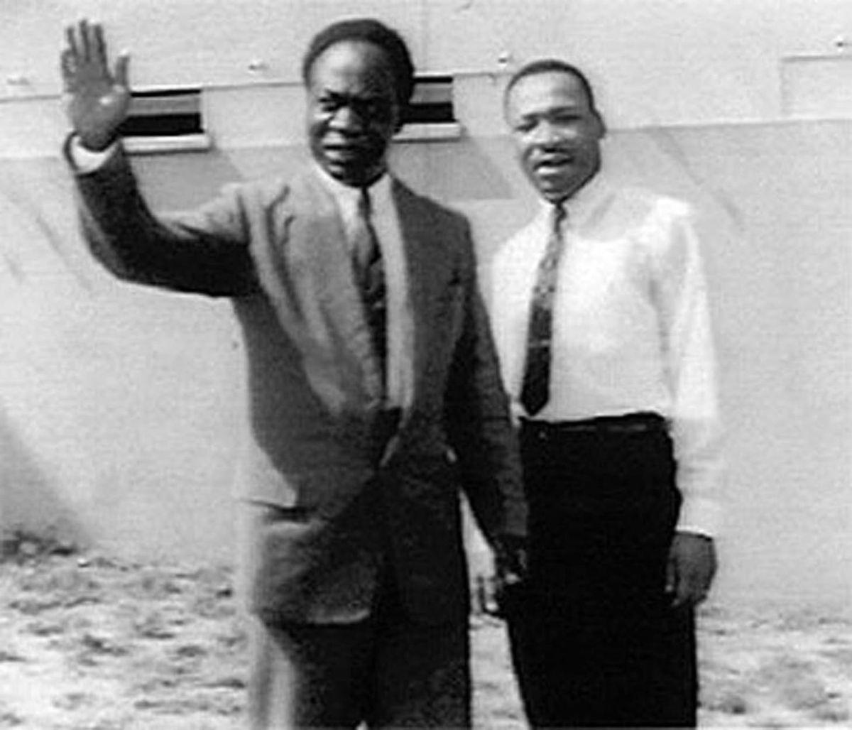 Kwame Nkrumah et Martin Luther King
