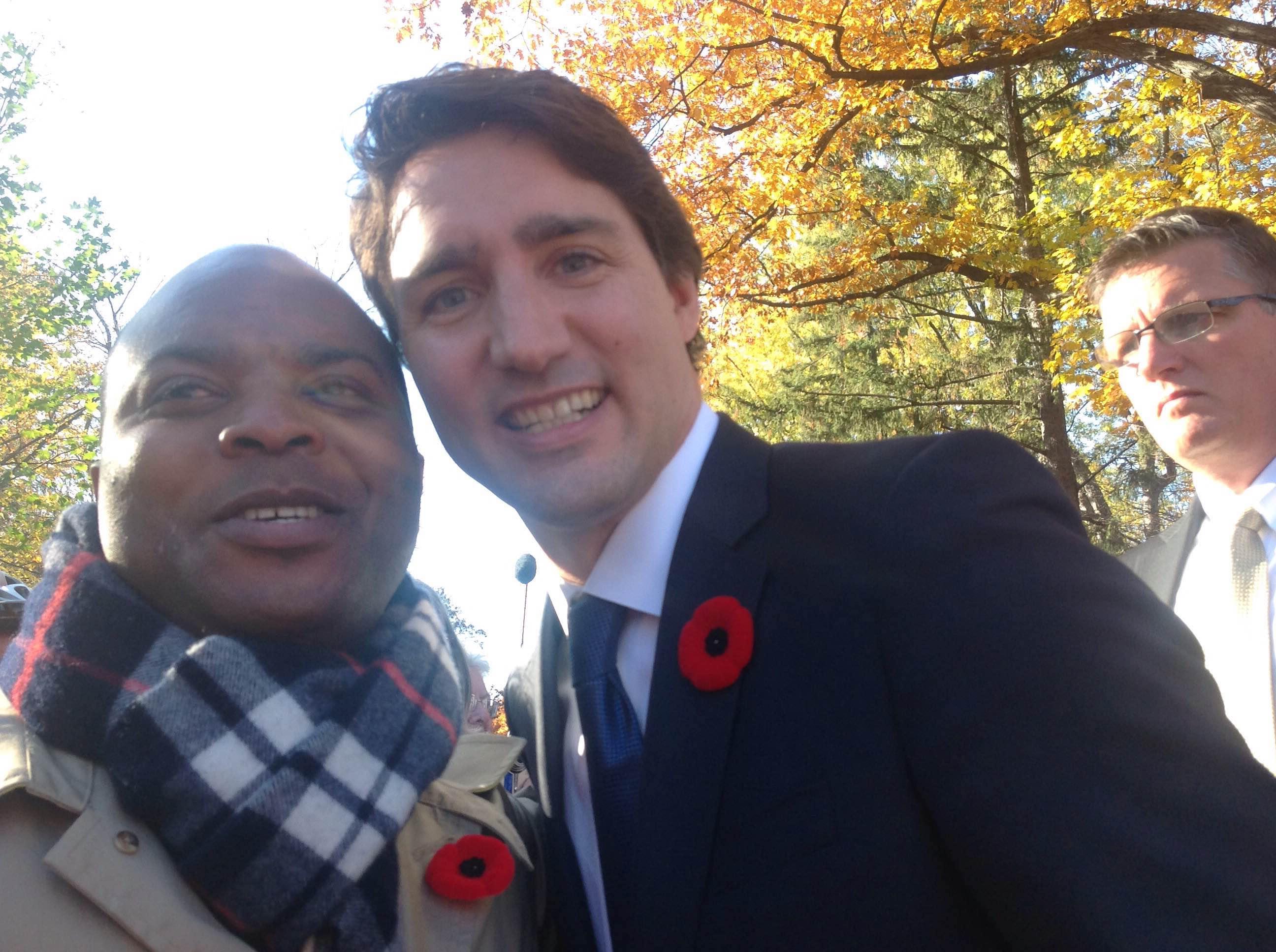 Sidy Diallo et Justin Trudeau