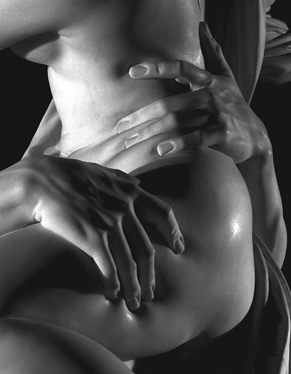 Bernin : L'enlèvement de Proserpine (1621), reprise en photo avec une admiration pour ce « rendu de la main et la sensualité qui s'en dégage »